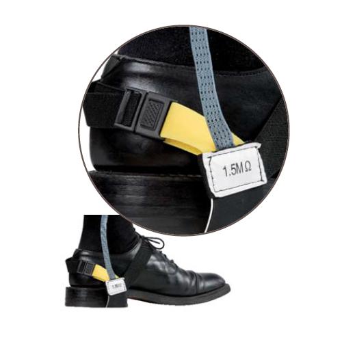 Opaska antystatyczna do obuwia na niskim obcasie